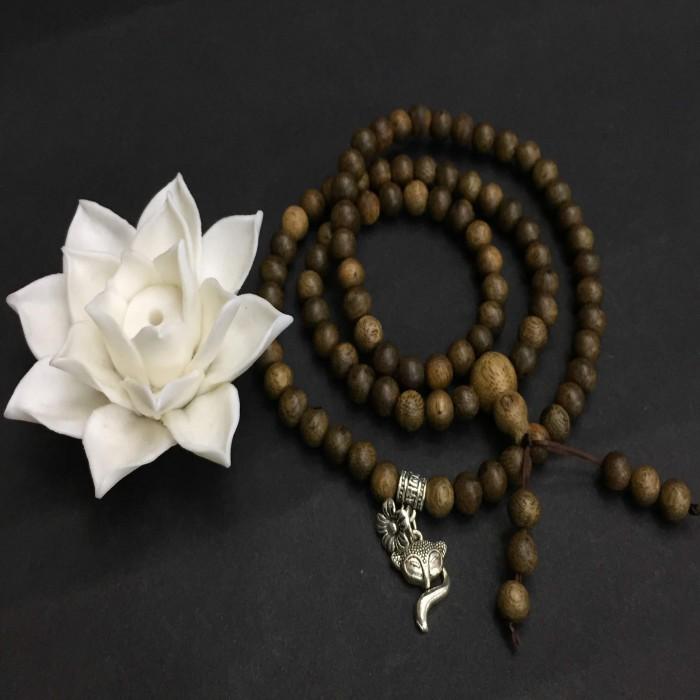 Vòng chuỗi trầm hương - chuỗi trầm hương 12 năm, cho size tay nữ (size tay 14~15.5 cm), dạng hạt tròn: 81 hạt x 6.5 mm, phối charm hồ ly (bạc 925) - 5