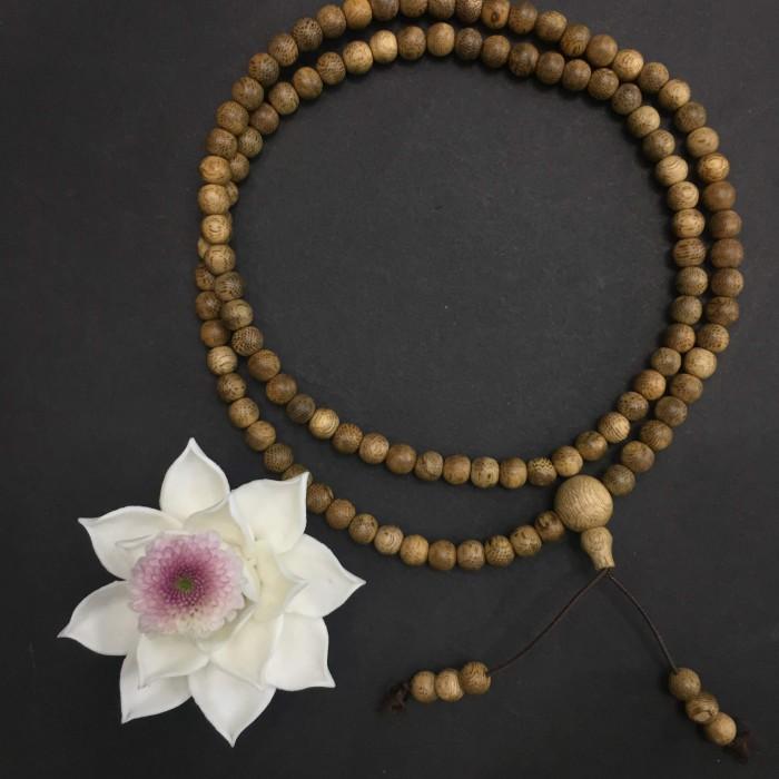 Vòng chuỗi trầm hương - chuỗi trầm hương 15 năm, cho nữ (size tay 14~15.5 cm), dạng hạt tròn: 108 hạt x 6.5 mm - 1