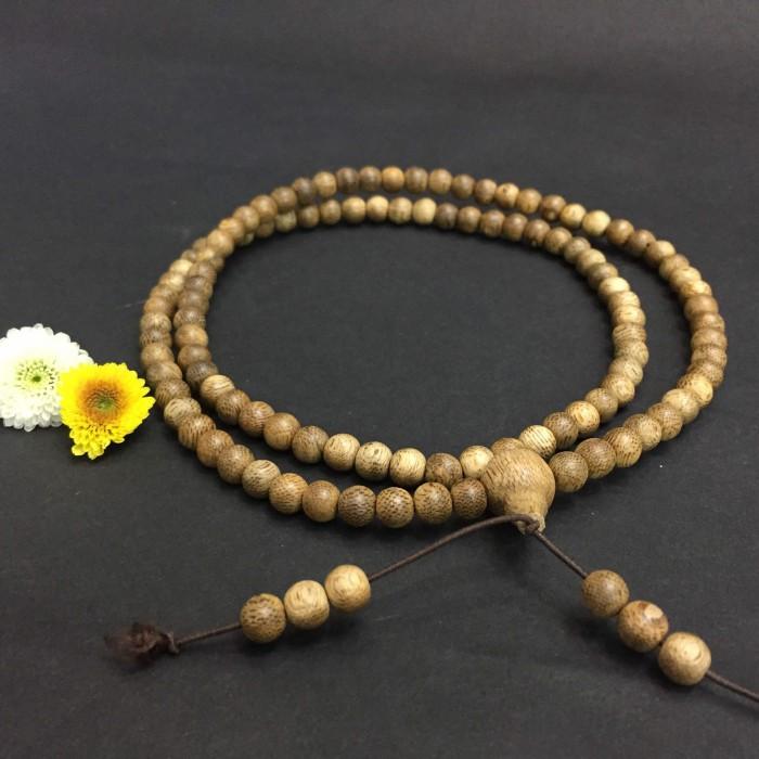 Vòng chuỗi trầm hương - chuỗi trầm hương 15 năm, cho nữ (size tay 14~15.5 cm), dạng hạt tròn: 108 hạt x 6.5 mm - 2