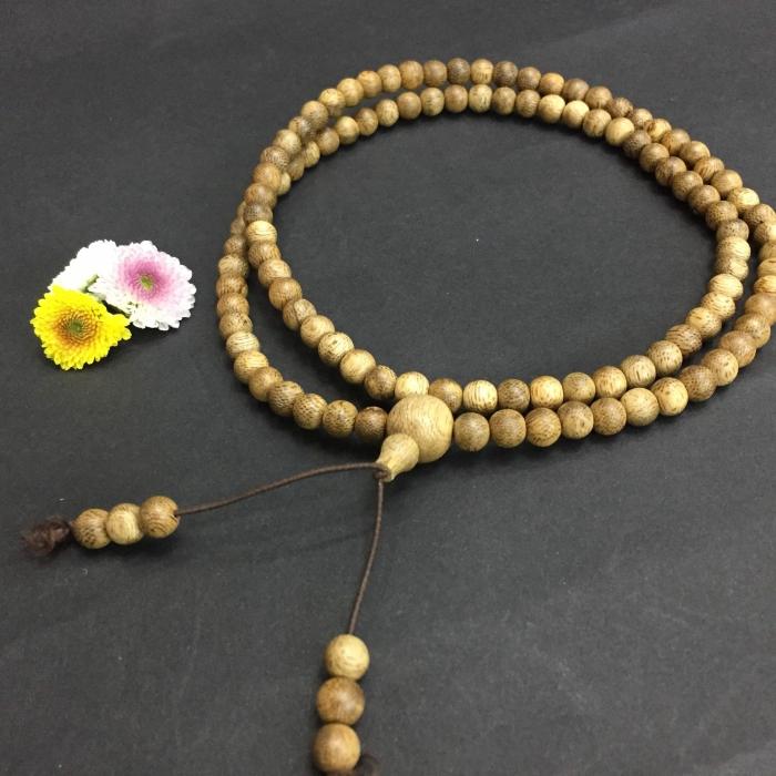 chuỗi trầm hương 15 năm, cho nữ (size tay 14~15.5 cm), dạng hạt tròn: 108 hạt x 6.5 mm