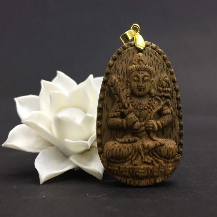 Phật Hư Không Tạng – Phật Khố Tàng Kim Cương làm từ trầm 30 năm (Mặt lớn/nhỏ) - Đeo cổ