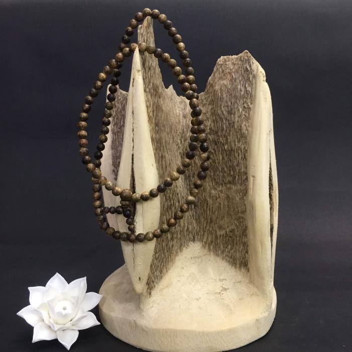 Chuỗi trầm hương 35 năm, cho nữ size tay 14.7 cm,hạt tròn 108 hạt x 6mm