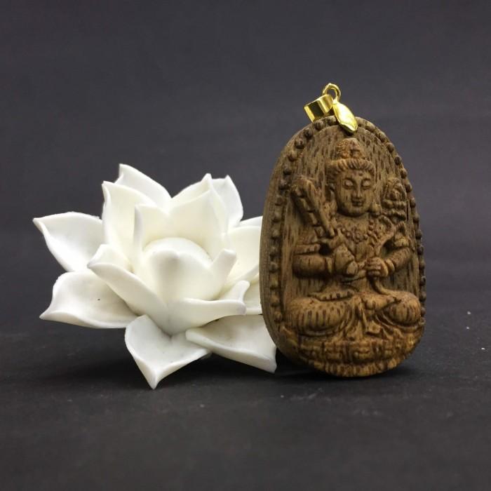 Vòng tay - Phật Hư Không Tạng – Phật Khố Tàng Kim Cương làm từ trầm 30 năm (Mặt lớn/nhỏ) - Đeo cổ - 1