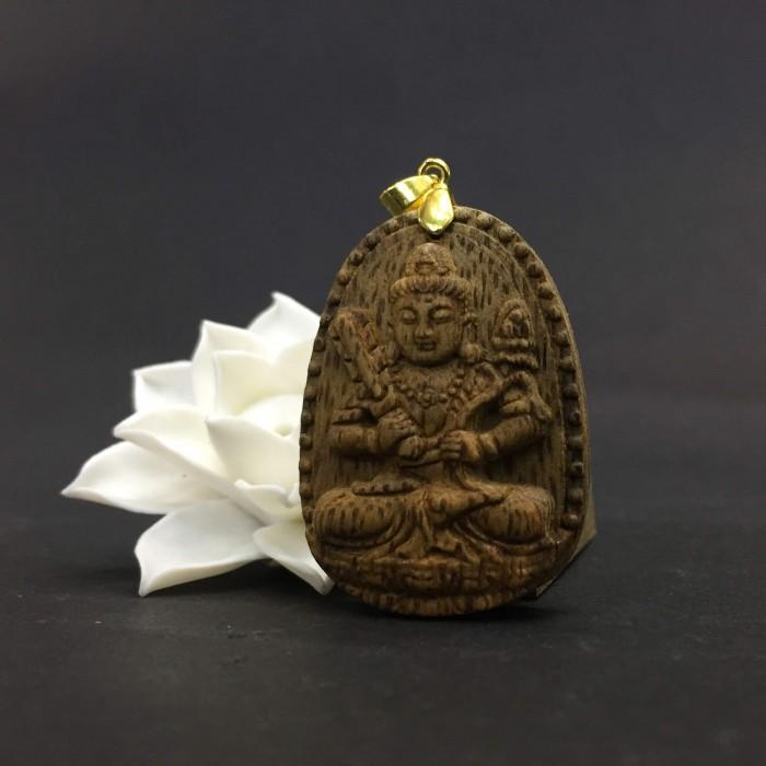 Vòng tay - Phật Hư Không Tạng – Phật Khố Tàng Kim Cương làm từ trầm 30 năm (Mặt lớn/nhỏ) - Đeo cổ - 2