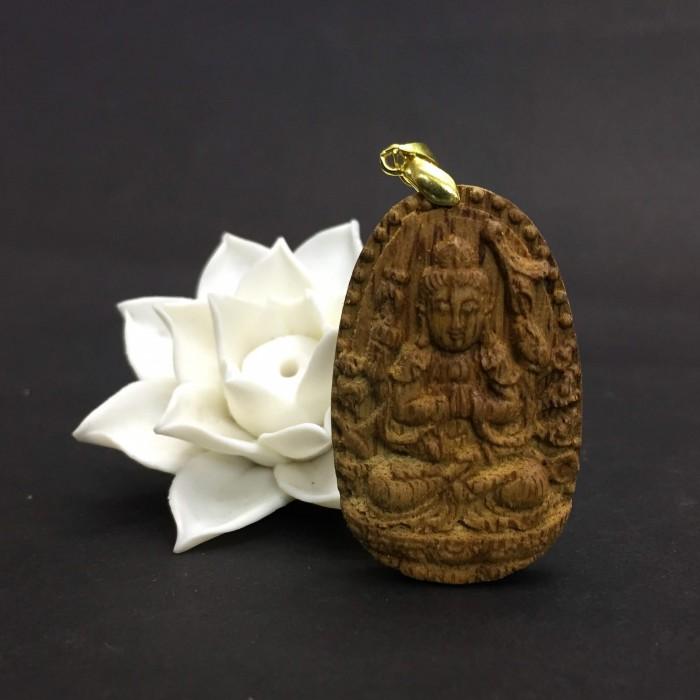 Vòng tay - Phật Thiên Thủ Thiên Nhãn làm từ trầm 30 năm (Mặt lớn) - Đeo cổ - 2