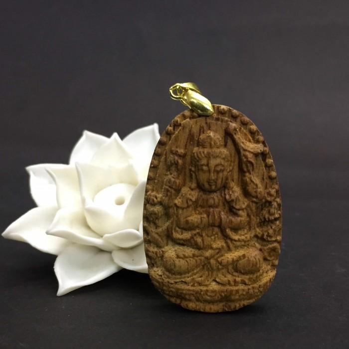 Vòng tay - Phật Thiên Thủ Thiên Nhãn làm từ trầm 30 năm (Mặt lớn) - Đeo cổ - 3