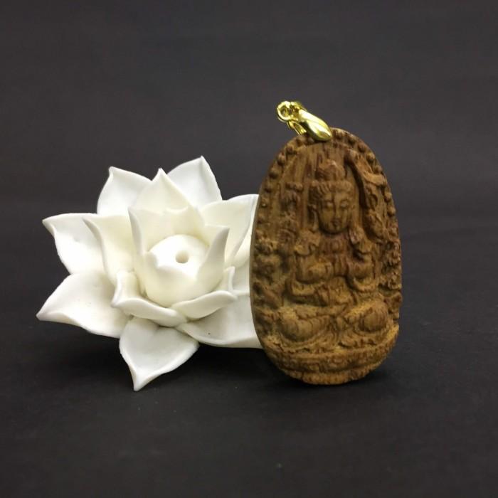 Vòng tay - Phật Thiên Thủ Thiên Nhãn làm từ trầm 30 năm (Mặt lớn) - Đeo cổ - 4