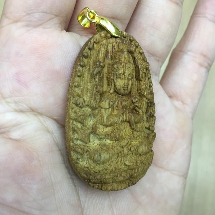 Vòng tay - Phật Thiên Thủ Thiên Nhãn làm từ trầm 30 năm (Mặt lớn) - Đeo cổ - 6