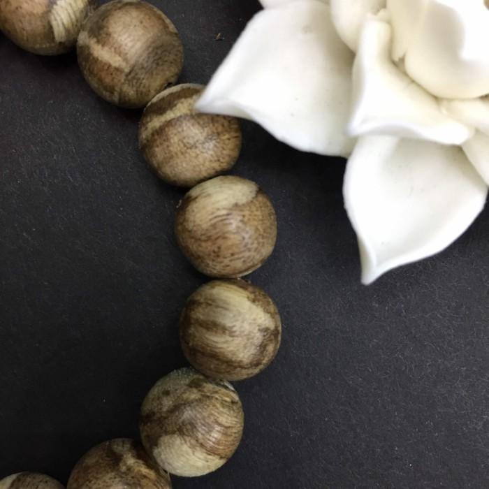Vòng tay - Trầm Rừng Tốc Bông, cho tay nam (18 cm),dạng hạt tròn: 18 hạt x 12 mm - 7
