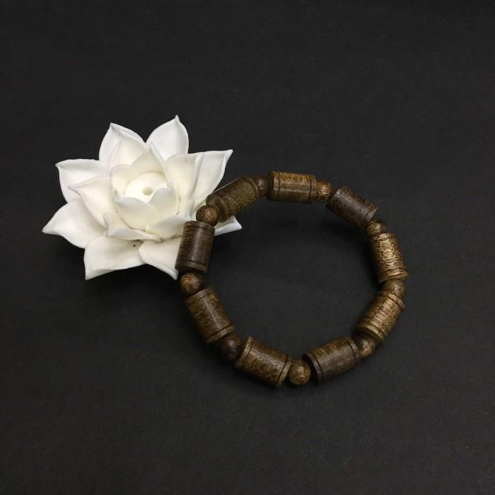 Vòng tay - vòng cặp trầm hương 35 năm,cho nam size tay 17.5 cm (hạt 11 mm) và nữ size tay 15.5 cm (hạt 9 mm),hạt trúc - 3