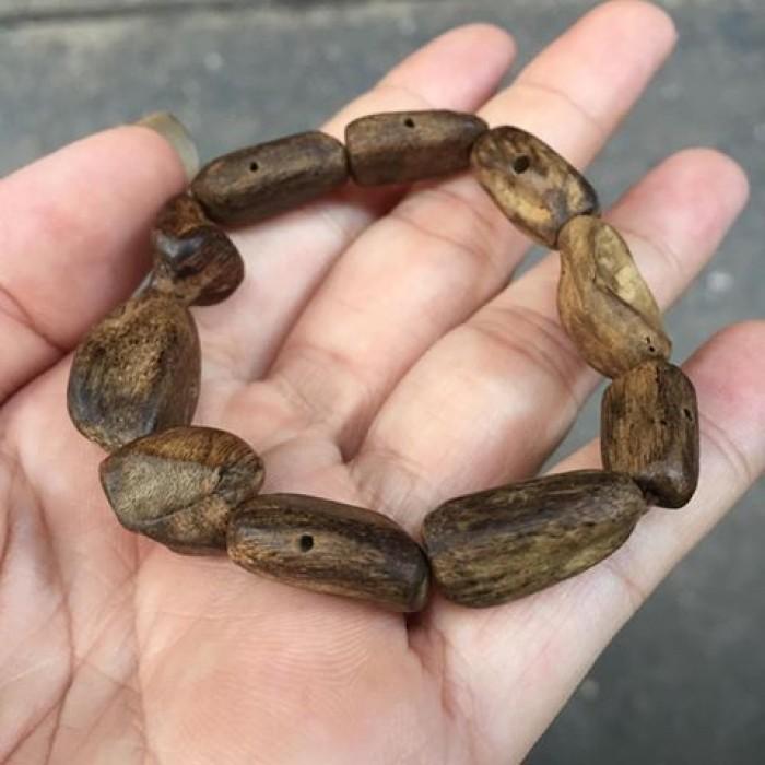 Vòng tay - Vòng Trầm Rừng, cho nữ (15.5 cm), dạng hạt tự nhiên: 10 hạt - 3