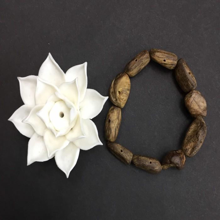 Vòng tay - Vòng Trầm Rừng, cho nữ (15.5 cm), dạng hạt tự nhiên: 10 hạt - 2