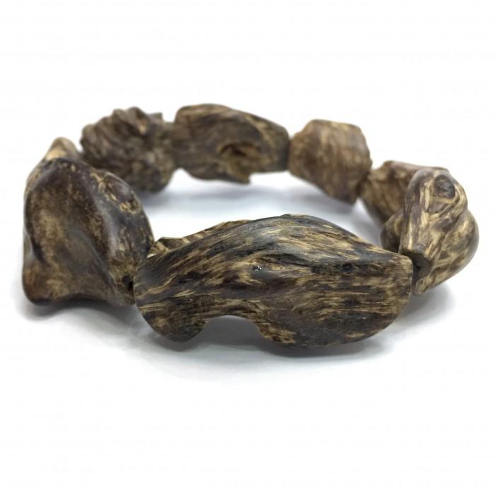 Vòng tay - Vòng Trầm Rừng Mắc Tử,cho tay nam, hạt tự nhiên: 8 hạt, 100% chìm nước, trọng lượng 36 gam - 7